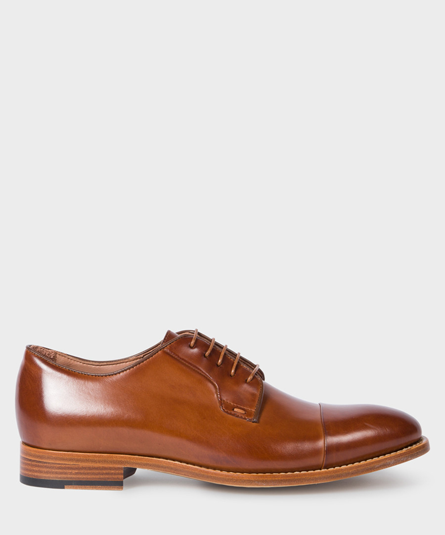 Tan leather Derby shoes Sale - paul smith