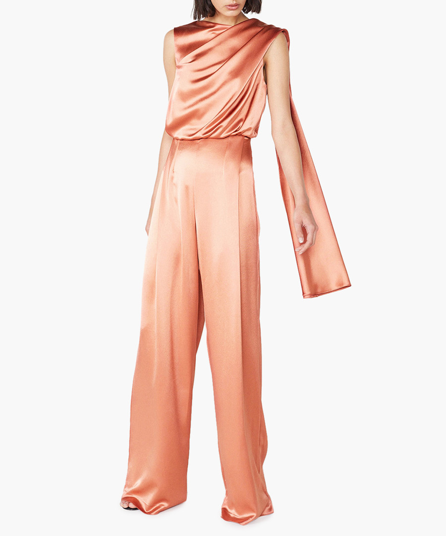 Olympia ochre satin jumpsuit Sale - Outline