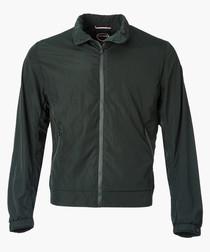 Botanical zip-up collared jacket
