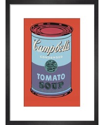Campbell's Soup Can, 1965 (blue & purple) Art print by Andy Warhol