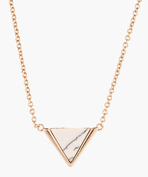 Lupine 18k rose gold-plated necklace