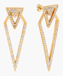 Lupine 18k gold-plated earrings