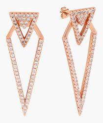 Lupine 18k rose gold-plated earrings