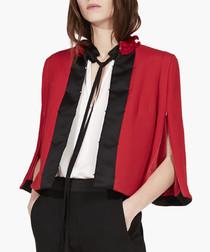 Red wool blend cloque jacket