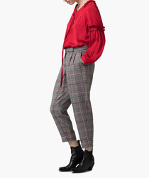 Grey Prince Of Wales trousers