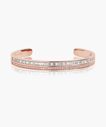 Corte rose gold-plated bangle