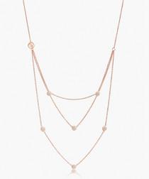 Grezzana Tre rose gold-plated necklace