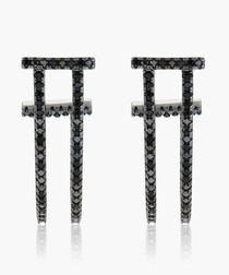 Fucino Lungo black earrings