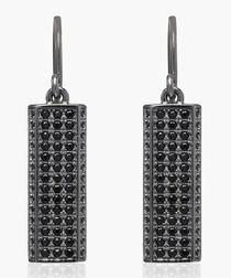 Bacoli Due black rhodium earrings