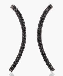 Fucino Grande black zirconia earrings