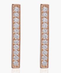 Simeri Piccolo rose-plated earrings