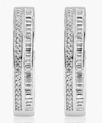 Corte Grande sterling silver earrings
