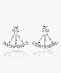 Princess cubic zirconia earrings