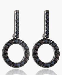 Biella Ciclo black zirconia earrings