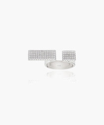Bacoli Due white zirconia pavé ring