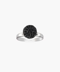 Bobbio black zirconia ring