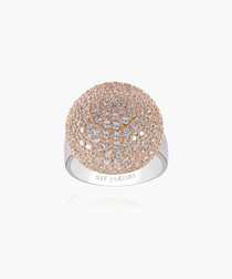 Comacchio 18k rose gold-plated ring