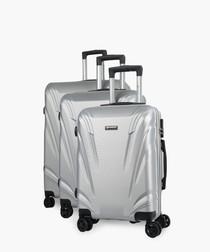 3pc majoro silver-tone luggage set