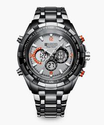 Mega Sport shark grey metal watch