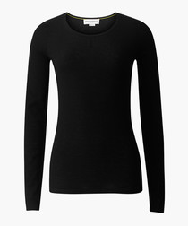 The Monroe black pure cashmere jumper