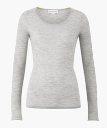The Monroe grey pure cashmere jumper