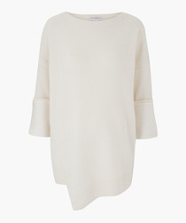 The Thurman ecru pure cashmere top