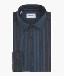 Blue pure cotton striped shirt