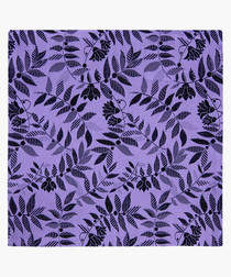 Purple pure silk patterned pocket square
