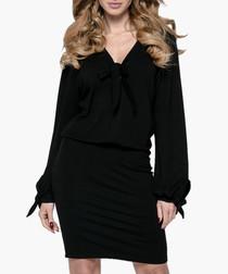 Black bow detail dress