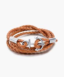Lewis tan anchor bracelet