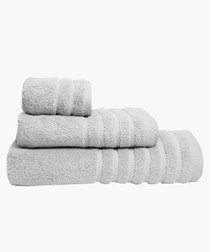 2pc grey pure cotton towel set 110cm
