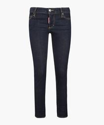 Blue cotton slim fit jeans