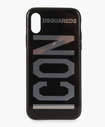 Black Icon logo phone case