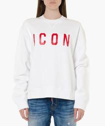 White pure cotton Icon jumper