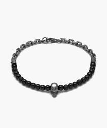 Atticus black onyx skull bracelet