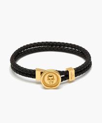 Atticus black & gold-plated bracelet