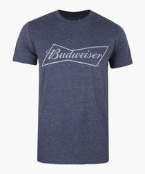 Navy pure cotton Budweiser T-shirt