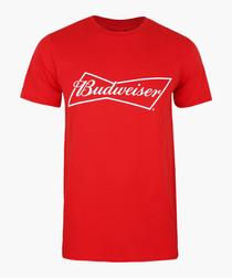 Red pure cotton Budweiser T-shirt