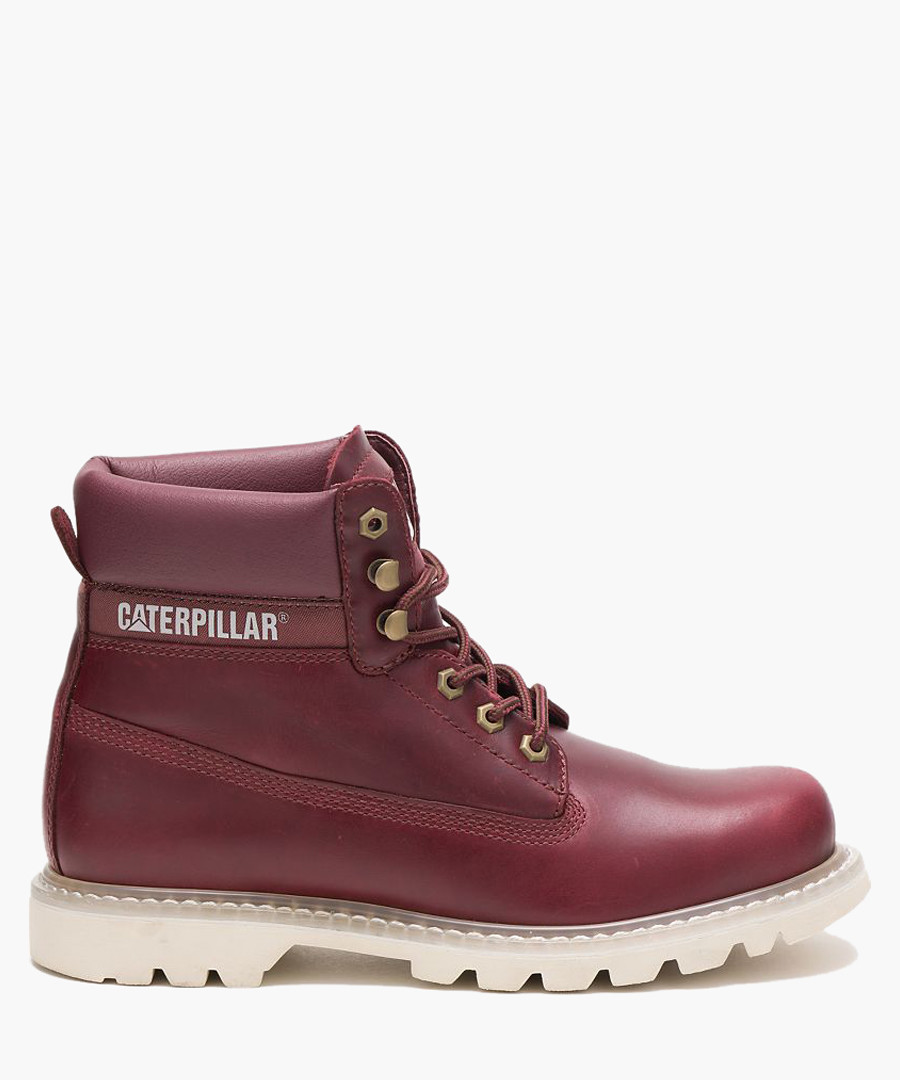Colorado Burgundy Leather Lace Up Boots by Cat