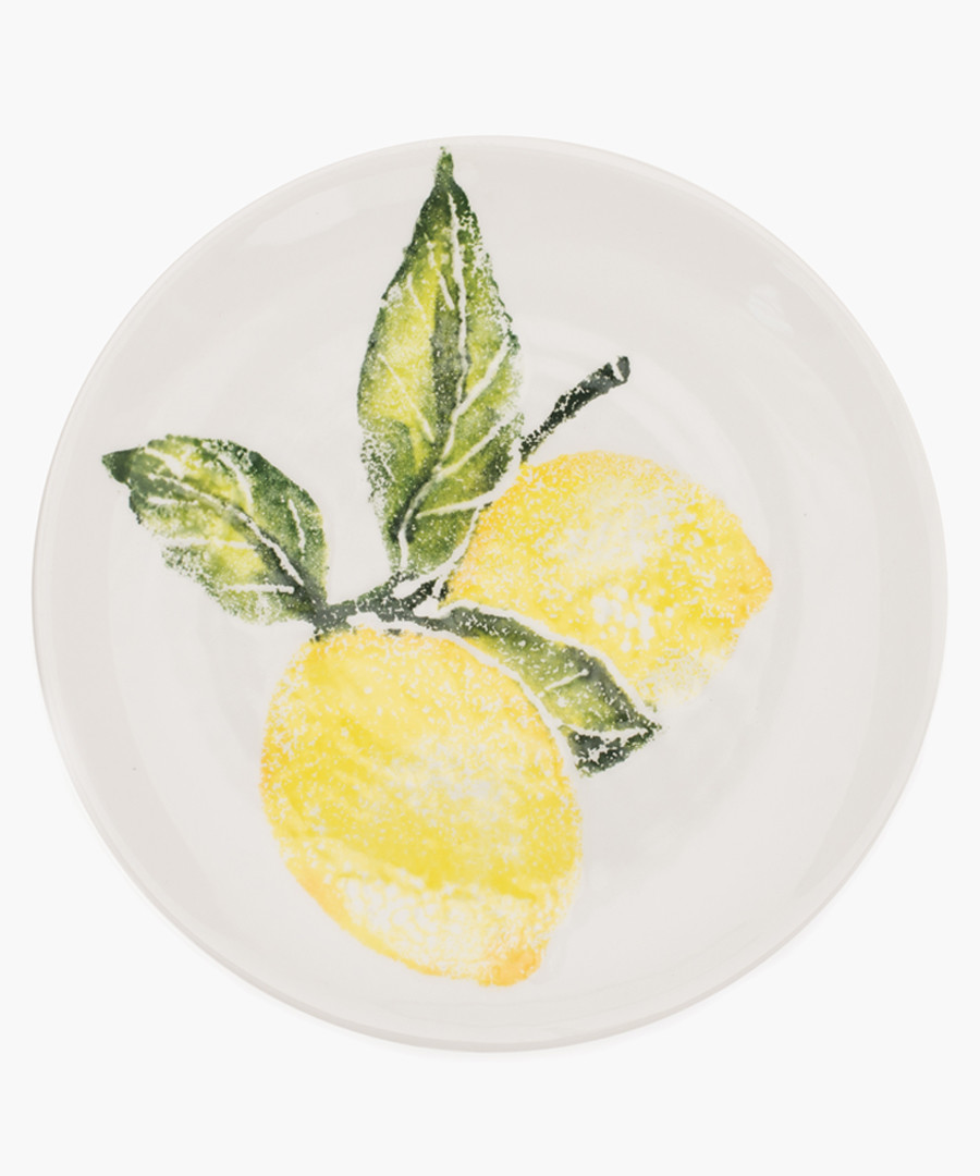 Lemon printed side plate Sale - Emily Bond