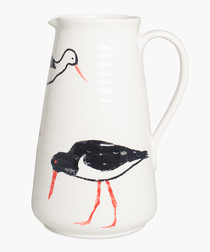 Oyster Catcher printed tall jug