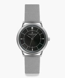 Makalu silver-tone mesh watch