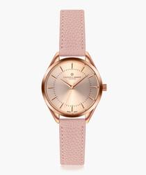 Kanjut sar lychee pink leather watch