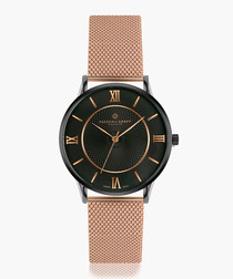 lhotse rose gold-tone mesh watch