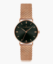 Gasherbrum rose gold-tone mesh watch