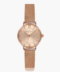 Shispare rose gold-tone mesh watch