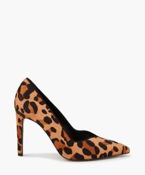 Ella tan leopard printed heels
