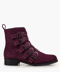 Bronte Alice burgundy suede boots