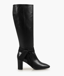 Florence black leather boots