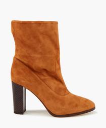 Sappho Shore tan suede boots
